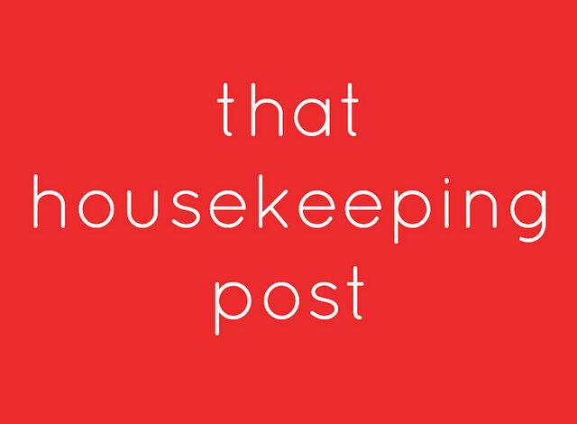 That Housekeeping Post