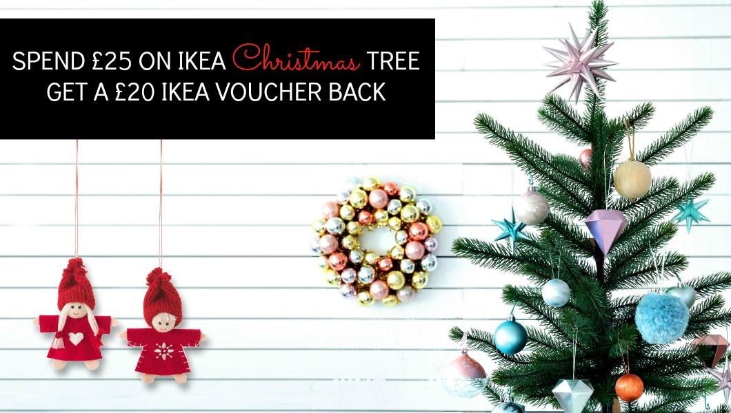 IKEA Christmas Tree Deal Buy £25 Tree Get £20 Voucher A  - Christmas Tree Discounts